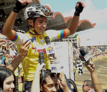 Premiación del ganador de la Vuelta al Tachira 2017